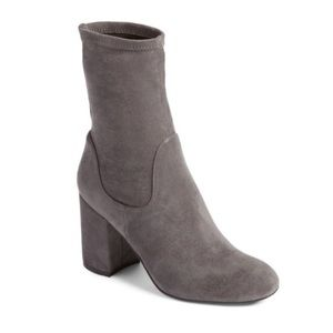 Halogen Jacy Gray Stretch Sock Ankle Bootie Boot 7